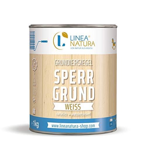 LINEA NATURA® Grundiersiegel Sperrgrund - weiß | Isoliergrund | Holzlack | zum Isolieren von inhaltsstoffreichen Hölzern 1 kg