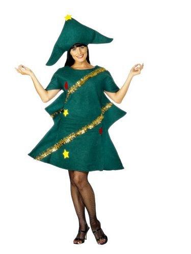 Smiffys Costume sapin de Noël, Vert, avec tunique et chapeau