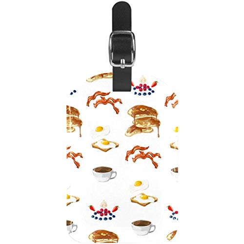 Gepäckanhänger Ei Brot Kaffee Obst Frühstück Leder Reise Koffer Etiketten 1 Packung