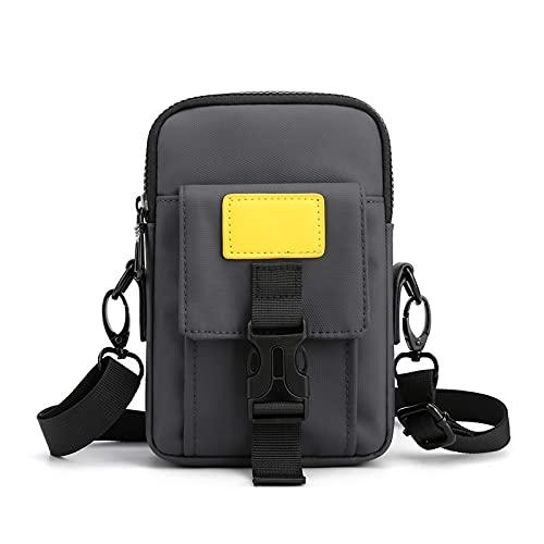 Bolsas de hombro Creativo Coreano Casual Pequeño Mochila Bolsa de hombro de gran capacidad de los hombres Tendencia de la moda Diagonal Bolsa Adecuado para el ocio, viaje diario.(19*13*4cm,Grey)