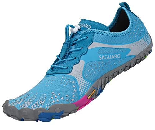 SAGUARO Unisex Sommer Wasserschuhe Damen Schnelltrocknend Strandschuhe Herren rutschfest Outdoor Fitness Schuhe Türkis 39
