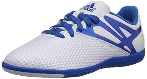 adidas Performance Messi 15.3 Indoor Soccer Shoe (Little Kid/Big Kid),White/Prime Blue/Black,11.5 M US Little Kid