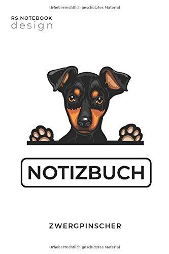 Zwergpinscher Notizbuch: Notizblock mit Hunde-Motiv | 120 Seiten | Notizbuch A5 Format | Liniert