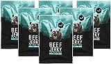 nu3 Beef Jerky Original | BBQ Taste 6x 50g | Low Carb (4%), Low Fat (3,7%) | satte 51% Rind Protein | Trockenfleisch / Dörrfleisch im BQQ-Style gewürzt mit Zwiebeln, Senf und Honig