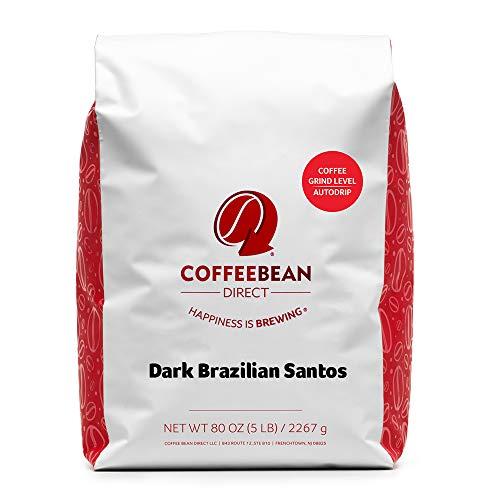 Coffee Bean Direct Dark Brazilian Santos,...