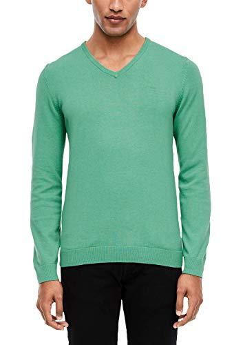 s.Oliver RED Label Herren Pullover mit V-Ausschnitt Light Green melang 3XL