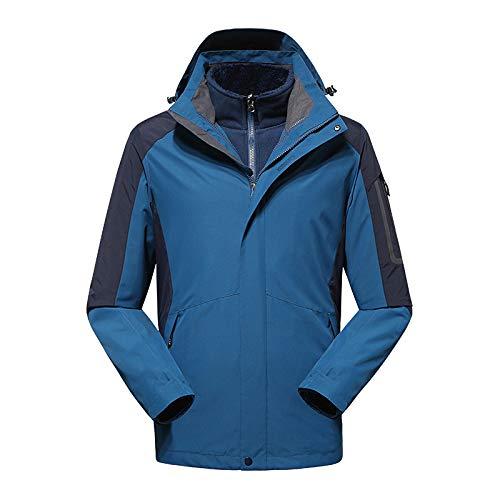 Jxx Winter Outdoorjacke Herren, Langhaarfutter Dicke warme Bergsteigerkleidung Damen, wasserdichter und atmungsaktiver Skianzug,