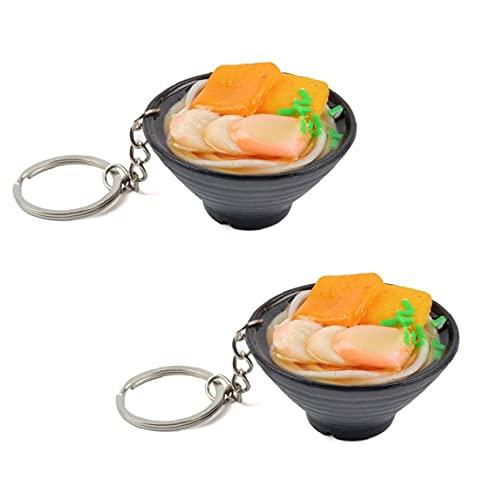 Aleatorio 2 unids 1/6 muñeco de Muelle Llavero alimento en Miniatura para Blyth Barbi Lindo simulación mariscos Fideos Modelo Cocina fingir Jugar Juguete de Comida