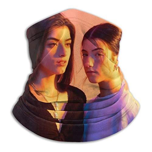 Jingliwang Charli Damelio - Pañuelo para el cuello, resistente al viento, para la cara, pasamontañas, pañuelo para la cabeza, microfibra para el cuello, color negro
