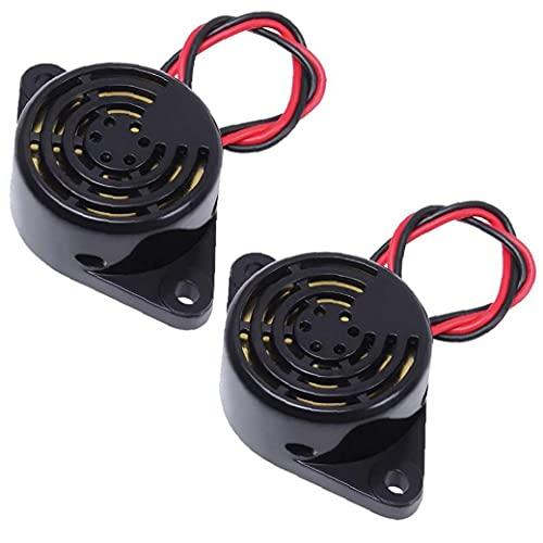 Hainice Timbre de Alarma DC3-24V Activo piezoeléctrico electrónico Timbre pitido Continuo Multi-Función Sonda con Cable