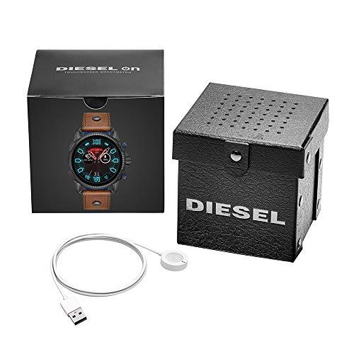 Diesel Homme Écran Tactile Digital Montre Connectée avec Bracelet en Cuir DZT2009