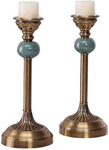 2 unids Table Candelabro Metal Vela Soporte de Vela Cena Cena Cena Props Aromatherapy Vela Soporte Luxuría Vela Lámpara Decoración para el hogar