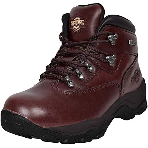 Northwest Men Hiking Walking Trail Boots Leather Waterproof Ankle High Rise Shoe
