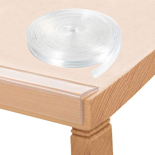 Baby Proofing, Tables Corner Guards Baby Child Safety, 20ft(6m) Soft Silicone Bumper Strip Furniture Clear Toddler Edge Protectors, Desk Edge Cushion(Clear)
