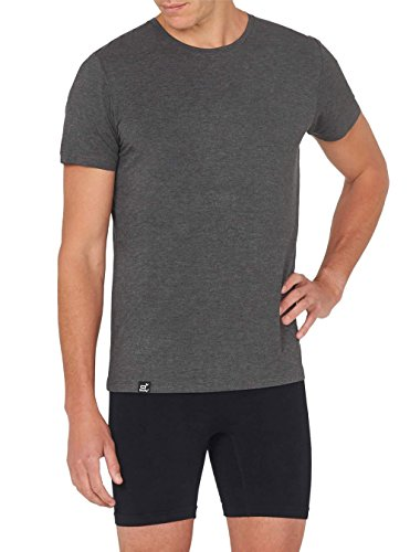 Boody Body EcoWear Mens Crew Neck T-Shirt - Cooling Athletic Short Sleeve Tee (Medium, Dark Grey)