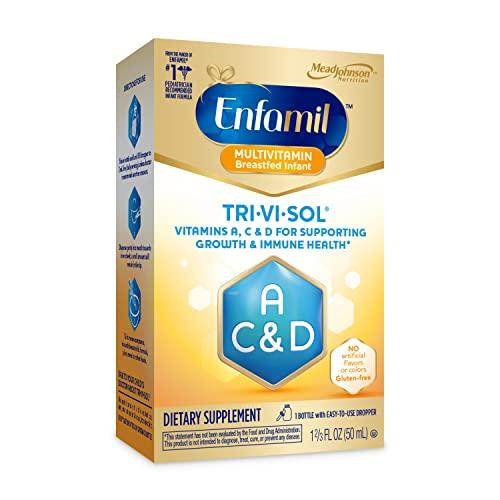 Enfamil Tri-Vi-Sol Vitamin A, C & D Multi-Vitamin Drops for Infants, Supports Growth & Immune Health, 50 mL Dropper Bottle
