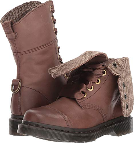 Dr. Martens Women's Aimilita Dark Brown Darkened Mirage 5 M UK