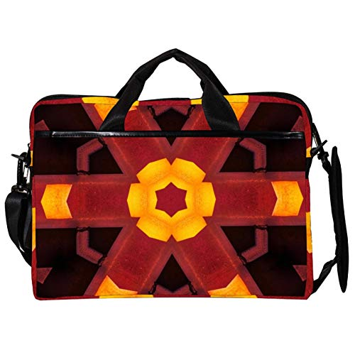Computer Bag Hexagon Flower Suitable for Laptop Computers Men and Women Handbags : 13.4 inch-14.5 inch