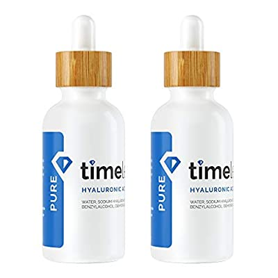 The Original Hyaluronic Acid Serum 100% Pure (4 OZ) - 2 Bottles of 2oz