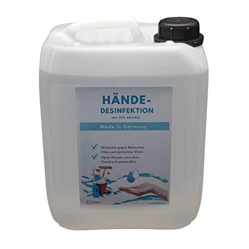 5 Liter Hand Hände- Desinfektionsmittel 100ml Lösung enthalten 72,91ml Alkohol (96{720f1481b538fd4d81465ef2f12360fca190707ac091d7f7348c0fdcf84cf21a}),