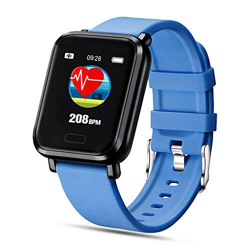FENHOO Smartwatch, Reloj Inteligente Impermeable IP68 para Hombre Mujer Niños, Pulsera Actividad Inteligente con Pulsómetro Monitor de Sueño Podómetro Calorías Reloj Digital para Android iOS (Azul)