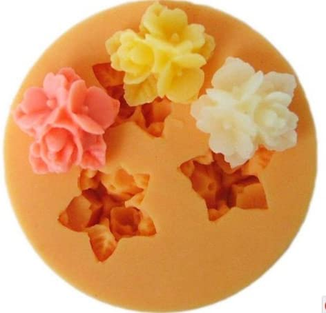 Allforhome TM 3 Cavity Mini Flower Moulds Silicon NEW Limited time cheap sale Fondant 1.6cm