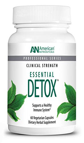 American Nutriceuticals – Essential Detox – 60 Vegetarian Capsules – Professionally Formulated Whole Body Detox – Naturally Cleanse, Purify & Renew – Highly Effective Detox of Environmental Toxins