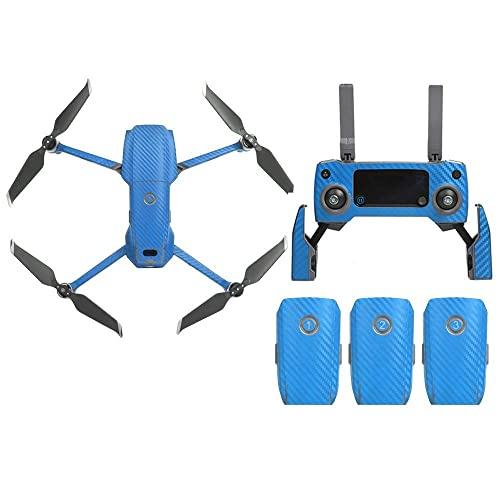 Accessori giocattolo- Accessori per droni Adesivi in grana di carbonio 3D Kit di adesivi per decalcomanie in pelle avvolgente in PVC impermeabile compatibile con DJI Mavic 2 PRO/Zoom Drone + Accesso