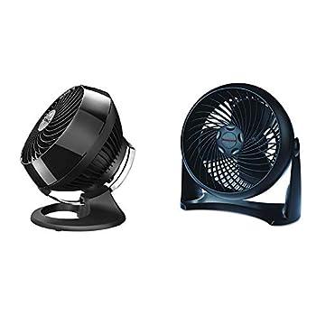 Vornado 460 Small Whole Room Air Circulator Fan with 3 Speeds Black & Honeywell HT-900 TurboForce Air Circulator Fan Black