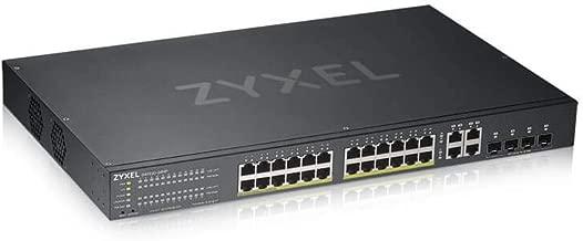 Zyxel 24-Port Gigabit Ethernet High Powered PoE+ 375W NebulaFlex Smart Managed Switch | 4X RJ-45/SFP Ports | 802.3at 802.3af | Metal | Brown Box Version [GS1920-24HPv2BB]