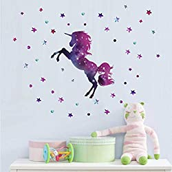 Unicorn Wall stickers for teenage girls bedroom