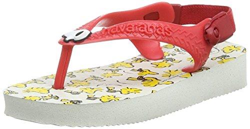 Havaianas Unisex-Baby Snoopy Zehentrenner, Weiß 0001, 19 EU