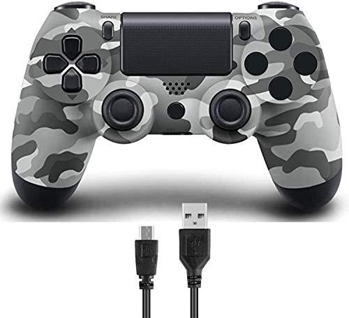 Hafei Wireless Controller para PS4, joystick remoto de jogo compatível com console Playstation 4 Slim Pro (cinza)
