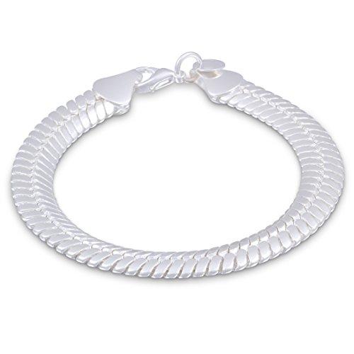 Juwelier Schönschmied- Silberarmband Silber pl. Schlangenarmband - Cobra-10 21 cm IDs12-10