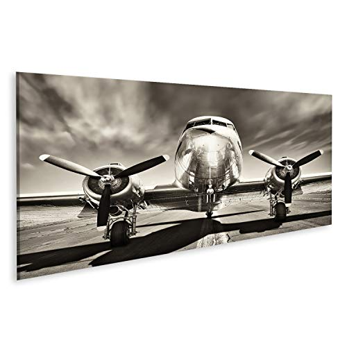 bilderfelix Cuadro Lienzo avión Retro Impresión Lienzo Formato Grande Cuadros Modernos TIO