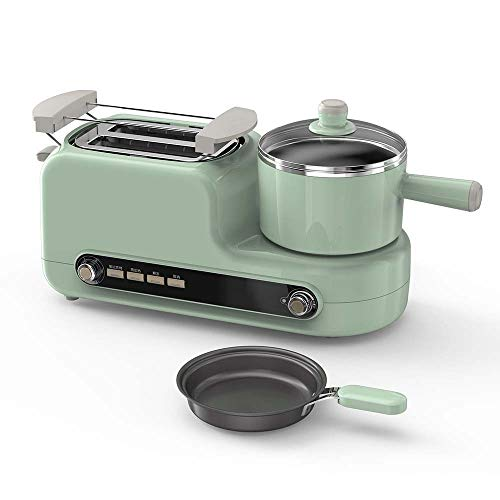 KLYHCHN Toaster whall Stainless Steel Function,Removable Crumb Tray,Toast Evenly and Quickly for Various Bread Types Breakfast Machine Household Toast Small Four In One Toaster (Green)