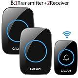 XuBa Remote Waterproof LED Home Wireless Doorbell 38 Songs Chime Door Bell US