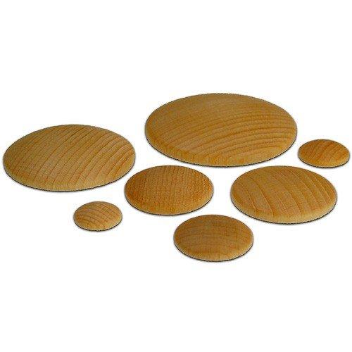 140 Holzplatinen gewölbt rund Ø 20mm - Basteln Holzarbeiten mit Kindern