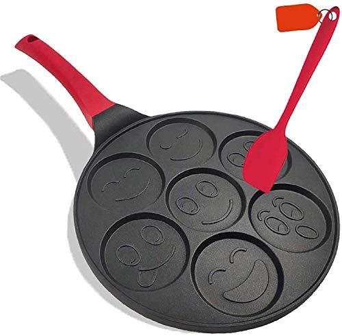 antiadhésive Pancake Poêles 25,4 cm plaque de cuisson à blinis crêpes Smile