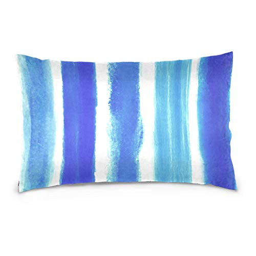 AEMAPE Rayas de Acuarela Throw Pillow Cover Funda de cojín Funda de Almohada Decorativa con Cremallera Invisible 50X75 Cm