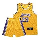 刺繍入りバスケットボールユニフォーム、レイカーズバスケットボールベスト、ブライアント、ジェームズ、オニールスーツ、速乾性、通気性のあ