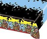 ALMACENESADAN 2495; Piraten Party Tischdecke; ideal für Partys und Geburtstage; Abmessungen 120x180 cm; Produkt des Gesprächs