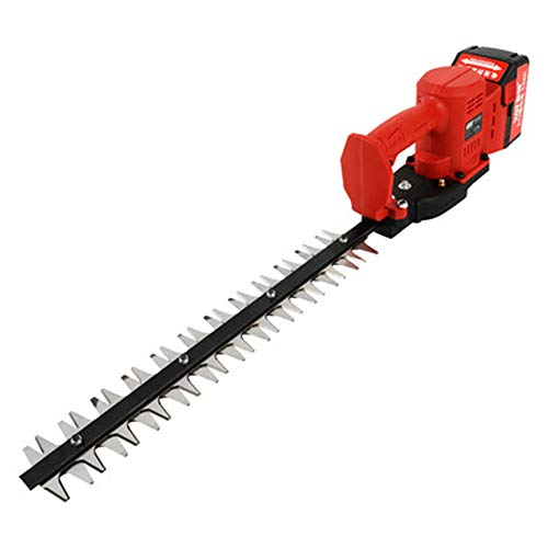 Find Bargain Maniny Lithium-ion Anti-jam Hedge Trimmer, 21 V Double-Edged Hedger - Straight Knife,...