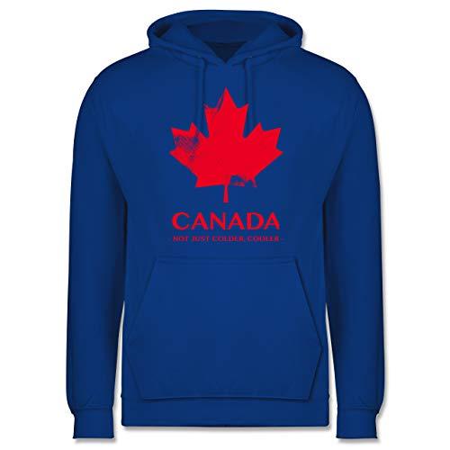 Shirtracer Länder - Canada Vintage Not just Colder Cooler - L - Royalblau - Canada Hoodie Herren - JH001 - Herren Hoodie und Kapuzenpullover für Männer