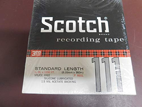 Scotch Reel To Reel Recording Tape Standard Length 1/4in x 1200ft. Silicone Lubricated. No.111-1/4-1200.