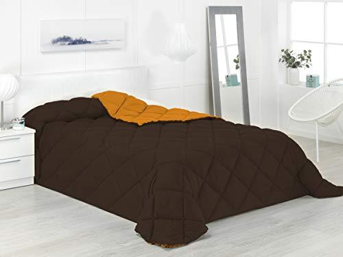 Boncasa - Xtreme 400 - Edredón nórdico de 400 g, Bicolor (Naranja y Chocolate, Cama 135/150-240 x 270 cm)