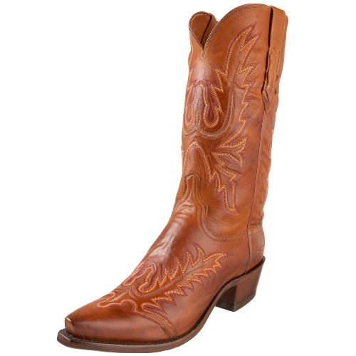 1883 by Lucchese Men's N8666 5/4 Western Boots,Cognac Burnish,13 D(M) US