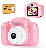 hooroor Kids Digital Camera Video 2.0 Inch IPS Screen 1080P with 32GB Card