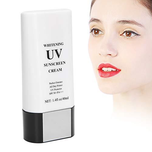 Crema de protección solar, 40 ml SPF 50 + / PA +++ Loción de protección solar no grasosa Cremas de protección solar de tamaño de viaje Cosméticos Maquillaje Regalo para mujeres