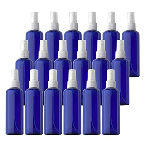 TIANZD 24 Piezas Pequeño 100 ml Botella de Spray Plástico Vacías Azul con Bomba en Spray Transparente de Niebla Fina Atomizador para Perfume Viaje Artículos de Agua Cosmético Alcohol
